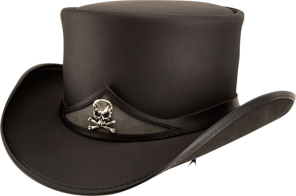 Head'n Home Hat Pale Rider Top Hat with Skull Band