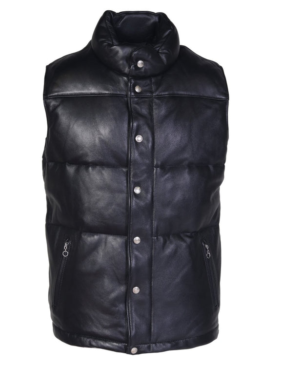 Schott Down Filled Lambskin Vest