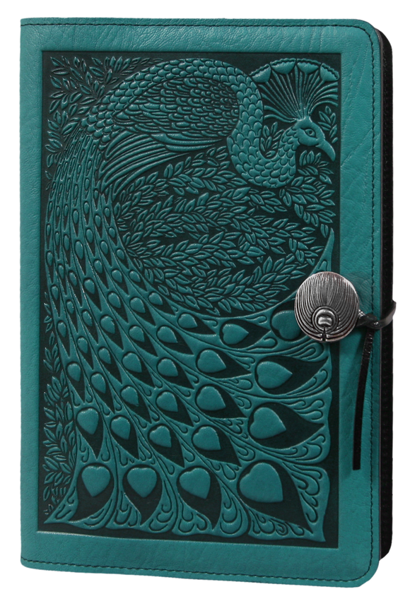 Oberon Peacock Refillable Journal Cover in Teal