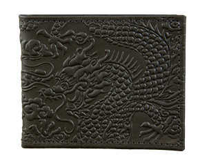 Oberon Cloud Dragon Bifold Wallet in Black