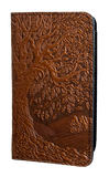 Oberon Tree of Life Checkbook Cover in Saddle