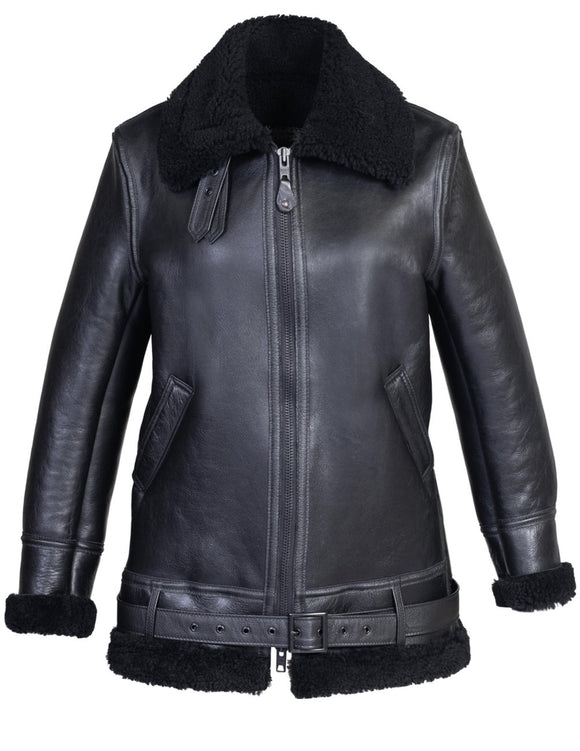 Women's Long Sheepskin B-3 Jacket