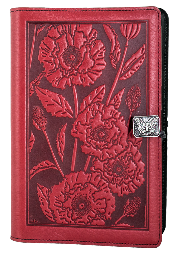 Oberon Oriental Poppy Refillable Journal Cover in Red