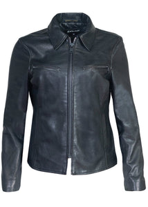 Lambskin Clean Collared Jacket