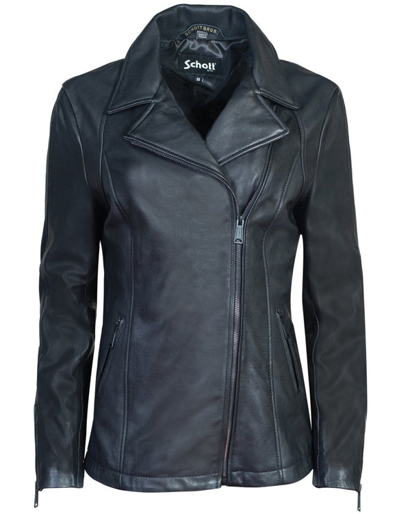 Long Lambskin Moto Jacket