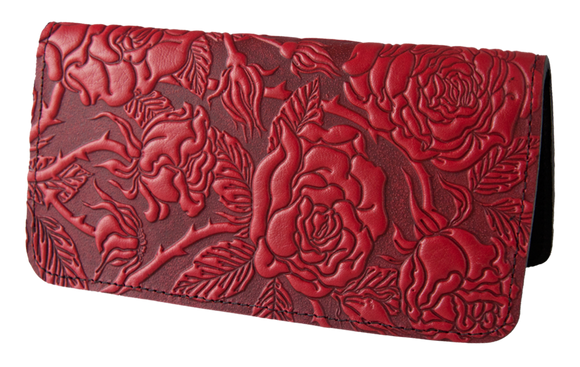 Oberon Wild Rose Smartphone Wallet in Red