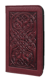 Oberon Celtic Hounds Checkbook Cover in Wine