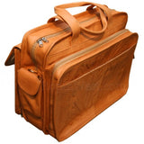 Ropin West Leather Accordion Briefcase in Natural