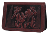 Oberon Iris Card Holder in Wine