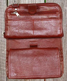 Ropin West Detachable Strap Checkbook Wallet Purse Interior in Red