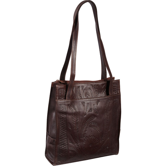 Ropin West Magnetic Closure Tote in Brown