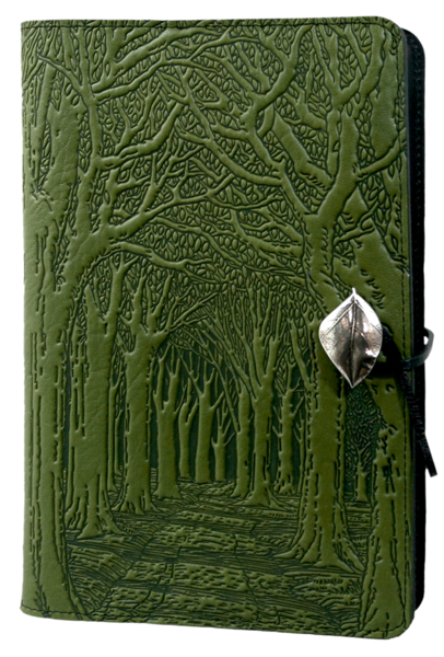Oberon Avenue of Trees Refillable Journal Cover in Fern