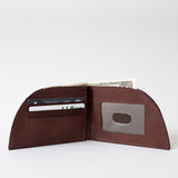 Rogue Industries Bison Rogue Wallet in Brown w/ 3 card slots & ID window