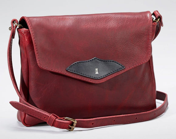 Coronado Leather Santa Fe Flap in Scarlet