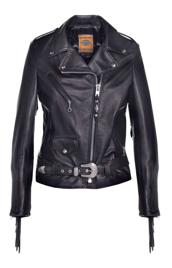 Women's Fringed Motorcycle Jacket