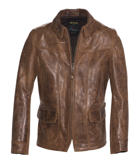 John Hancock Men's Leather Delivery Jacket