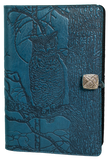 Oberon Horned Owl Refillable Journal Cover in Sky Blue
