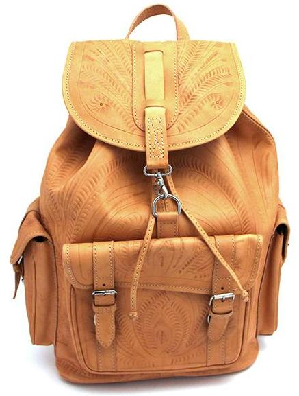 Ropin West Extra Large Drawstring Backpack in Natural