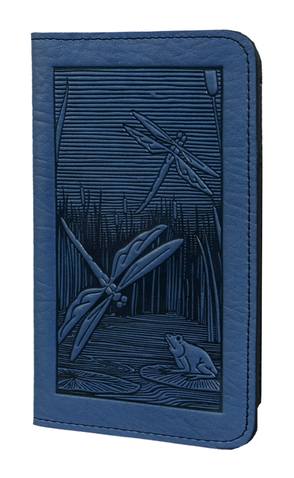 Oberon Dragonfly Pond Checkbook Cover in Sky Blue