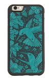 Oberon Hummingbird iPhone Case in Teal
