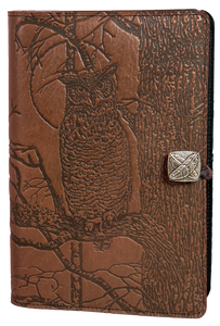 Oberon Horned Owl Refillable Journal Cover in Saddle
