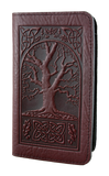 Oberon Celtic Oak Checkbook Cover in Wine