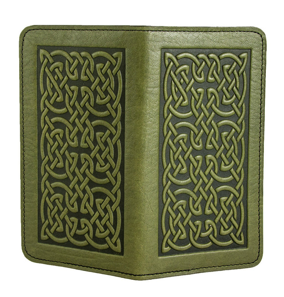 Oberon Bold Celtic Checkbook Cover in Fern