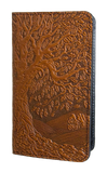 Oberon Tree of Life Smartphone Wallet in Saddle