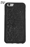 Oberon Celtic Hounds iPhone Case in Black