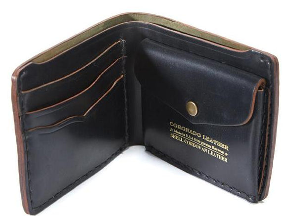 Coronado Leather CXL Horsehide Global Bifold Wallet #44 in Black