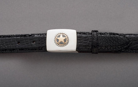 Randall D. Moore 14k Gold Ropestar Scout Buckle