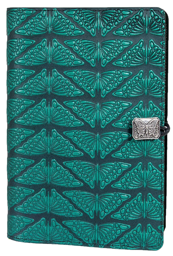 Oberon Mariposas Refillable Journal Cover in Teal