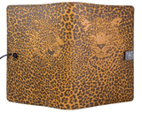 Oberon Leopard Refillable Journal Cover in Marigold