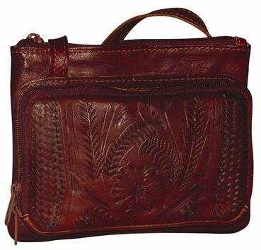 Ropin West Front Zip Organizer Bag in Brown