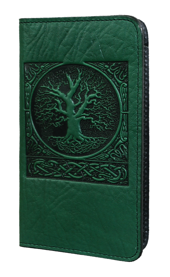 Oberon World Tree Checkbook Cover in Green