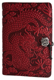 Oberon Cloud Dragon Refillable Journal Cover in Red