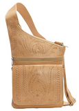 Ropin West Crossbody Organizer Bag in Natural