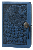 Oberon Peacock Refillable Journal Cover in Sky Blue