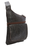 Ropin West Crossbody Organizer Bag in Brown