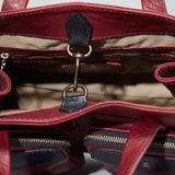 Coronado Leather Santa Fe Satchel Interior in Scarlet