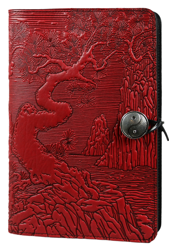 Oberon River Garden Refillable Journal Cover in Red