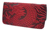 Oberon Cloud Dragon Smartphone Wallet in Red