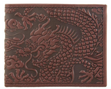 Oberon Cloud Dragon Bifold Wallet in Wine