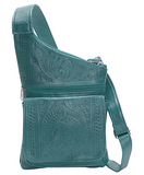 Ropin West Crossbody Organizer Bag in Turquoise