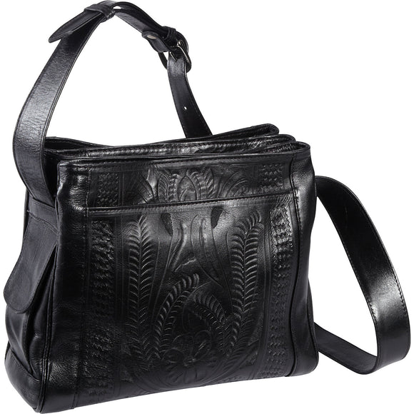 Ropin West Large Crossbody Purse in Black