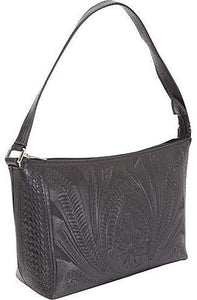 Ropin West Organizer Shoulder Bag in Black
