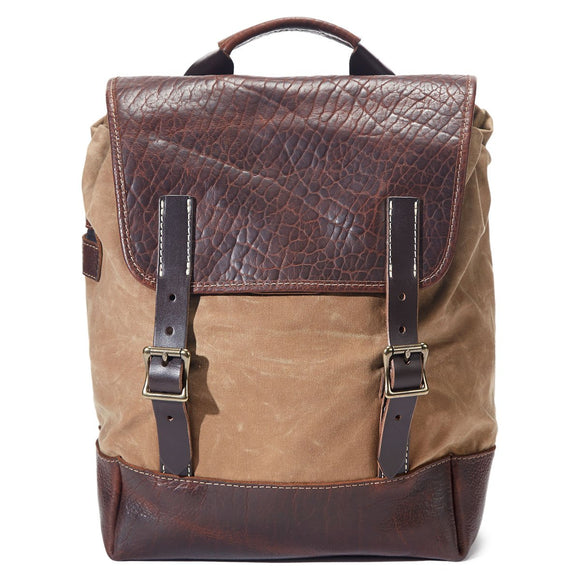 Coronado Leather Bison Backpack #530 in Walnut/Field Tan