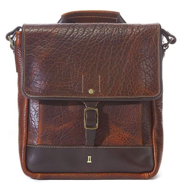 Coronado Leather Bison Crossbody #553 in Walnut