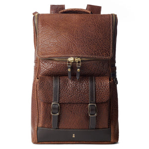 fa9350e17186 Coronado Leather Bison Top Zip Backpack #740 – Letherwerks & Outlaws ...