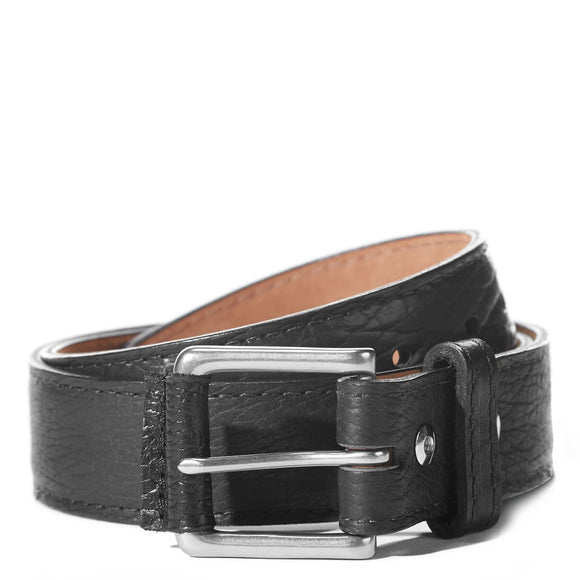 Coronado Leather Sedona Bison Belt #100 in Black